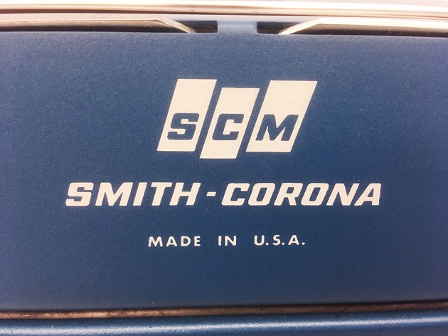 "Smith-Corona ""Coronet Electric 12"" from the logo on the back..."