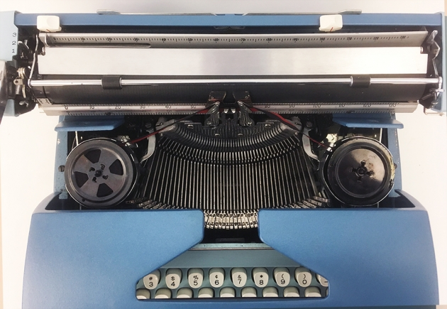 "Smith-Corona ""Coronet Electric 12"" from under the hood..."