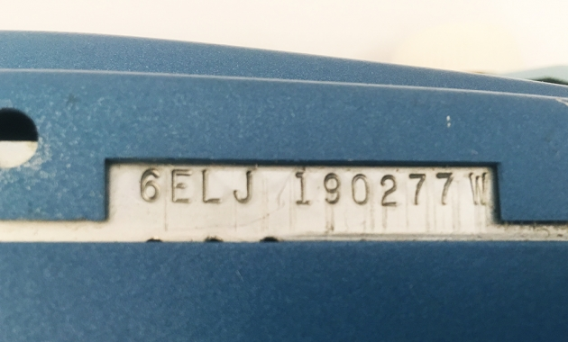 "Smith-Corona ""Coronet Electric 12"" serial number location..."