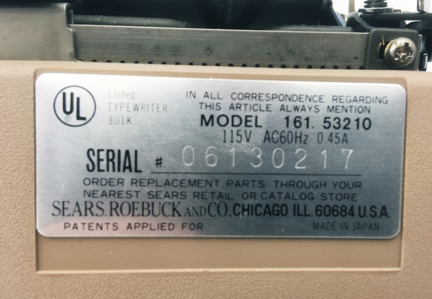 """Sears """"Electric 1"""" from the back (detail)..."""