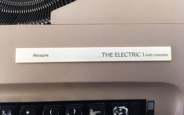 """Sears """"Electric 1"""" from the name plate badge..."""