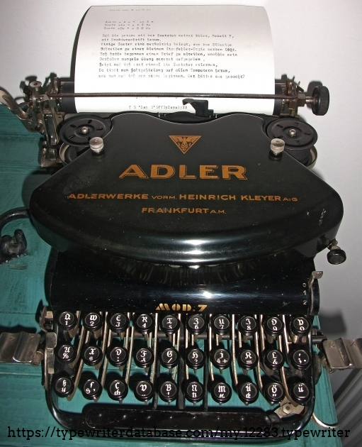 And here she is. My beauty is cleaned and very busy. It takes two hours to learn to type with this special typewriter.