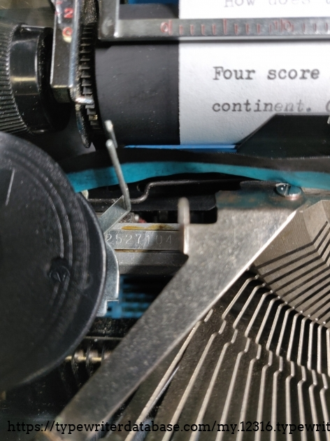 Serial number left platen beneath platen