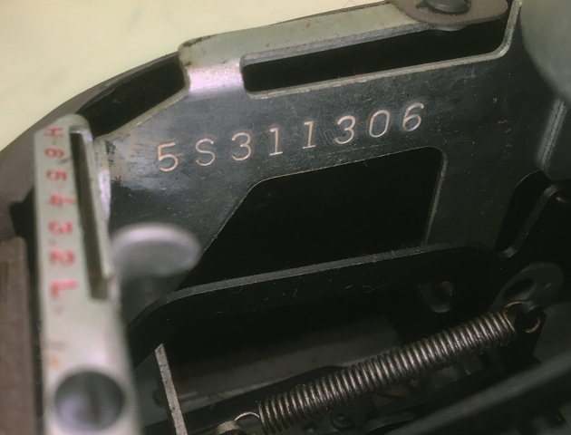 """Smith-Corona """"Silent"""" serial number location..."""