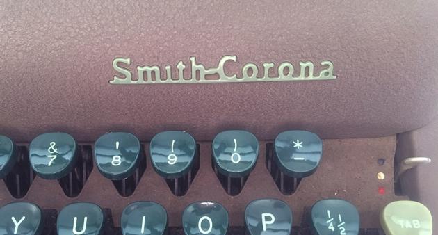 """Smith-Corona """"Silent"""" logo on the top..."""