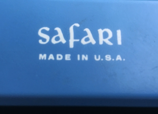 "Royal ""Safari"" logo on the top..."
