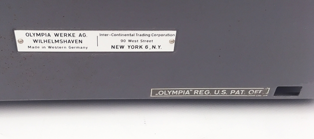 """Olympia """"SM9"""" from the back (detail)..."""