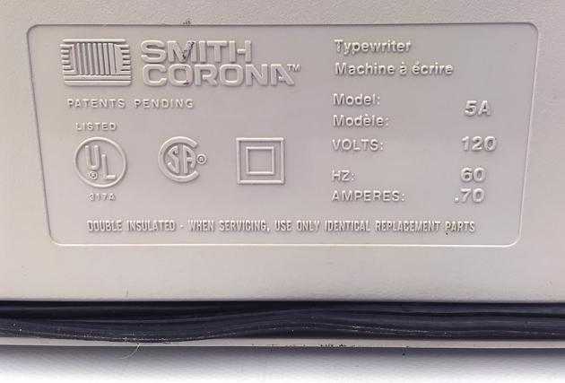 "Smith Corona ""XL 2500"" from the bottom, detail,,,"