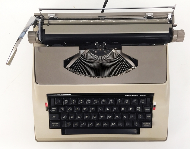 """Underwood """"Electric 555""""  from the top..."""