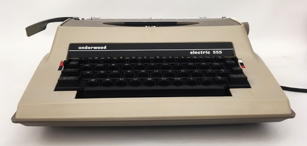 """Underwood """"Electric 555""""  from the front..."""