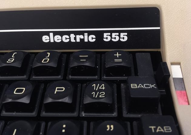 """Underwood """"Electric 555""""  from the logo on the right..."""