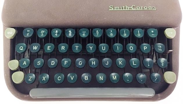 "Smith Corona ""Skyriter"" from the keyboard..."