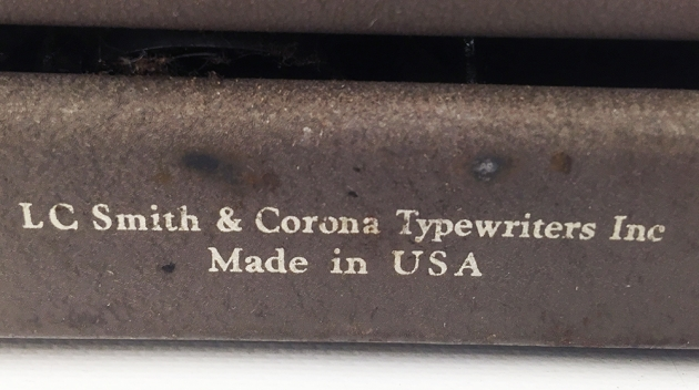 """Smith Corona """"Skyriter"""" from the back (detail)..."""