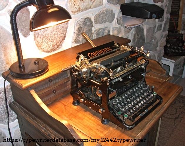 In the scriptorium Krempe sitting on her desktop