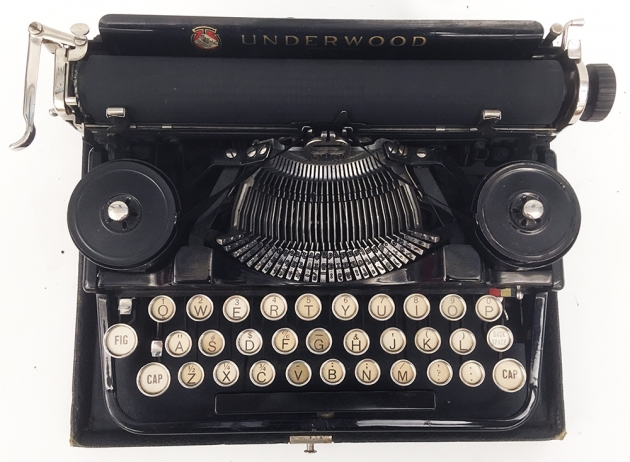 "Underwood ""Portable 3 Bank"" from the top..."
