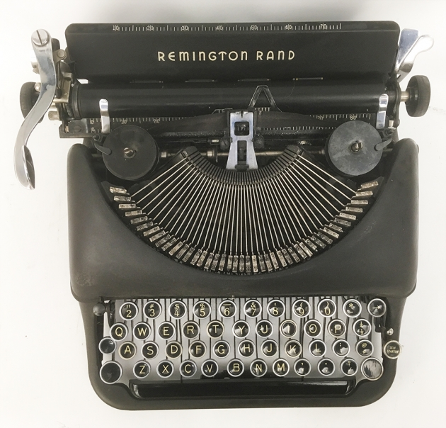 """Remington Rand """"Deluxe 5""""  from the top..."""