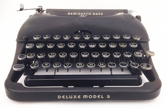 """Remington Rand """"Deluxe 5""""  from the front..."""