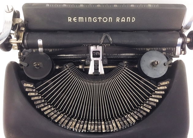 """Remington Rand """"Deluxe 5""""  from under the hood ..."""