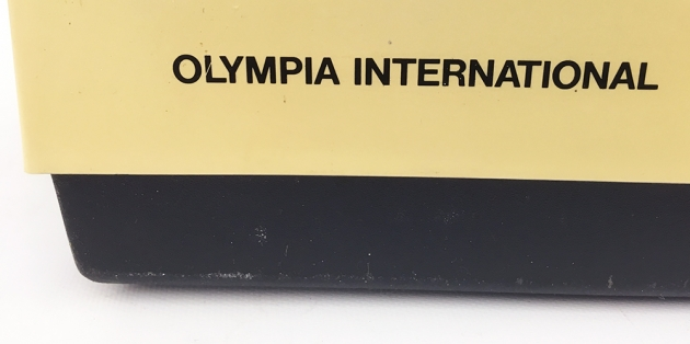"""Olympia """"Olympiette"""" from the back, logo..."""