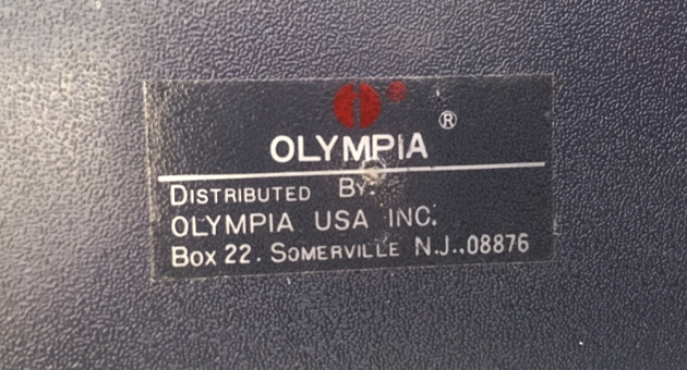 """Olympia """"Olympiette"""" from the bottom (detail) sticker..."""