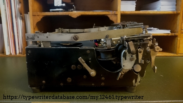 The typical profile of folding typewriters