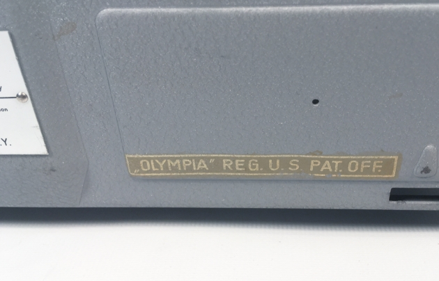 """Olympia """"SM3"""" from the back (detail 2)..."""