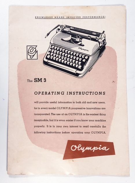 """Olympia """"SM3"""" this model brochure came with it..."""