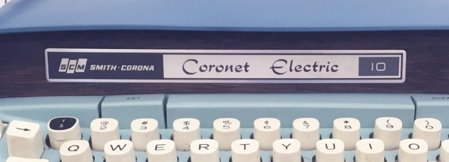 "Smith-Corona ""Coronet Electric 10"" from the front (detail)..."
