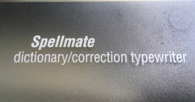 """Smith Corona """"Spellmate 700"""" from the keyboard...(model/detail)"""