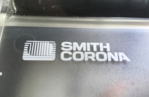 """Smith Corona """"Spellmate 700"""" from the keyboard...(maker/detail)"""