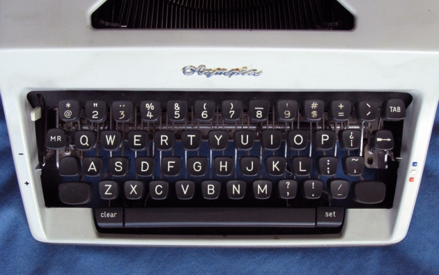 The Olympia Universal Keyboard, with diacritics for English (ha ha), French, German, Spanish, and Portuguese but not for any Scandinavian or Eastern European languages.