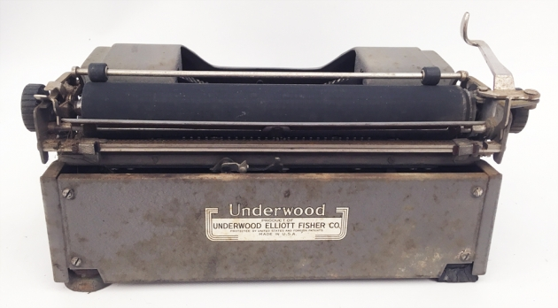 """Underwood """"Student""""from the back..."""