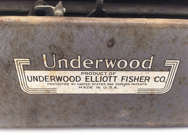 """Underwood """"Student""""from the back (detail)..."""