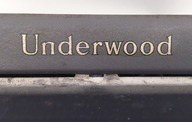 """Underwood """"Student"""" logo from the top..."""