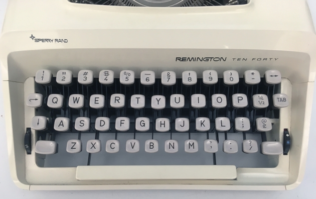 """Remington """"Ten-Forty"""" from the keyboard..."""