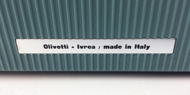 """Olivetti """"Lettera 32""""  from the back detail/logo..."""