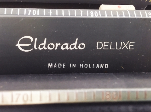 "Royal ""Eldorado Deluxe"" from the logo on the top..."