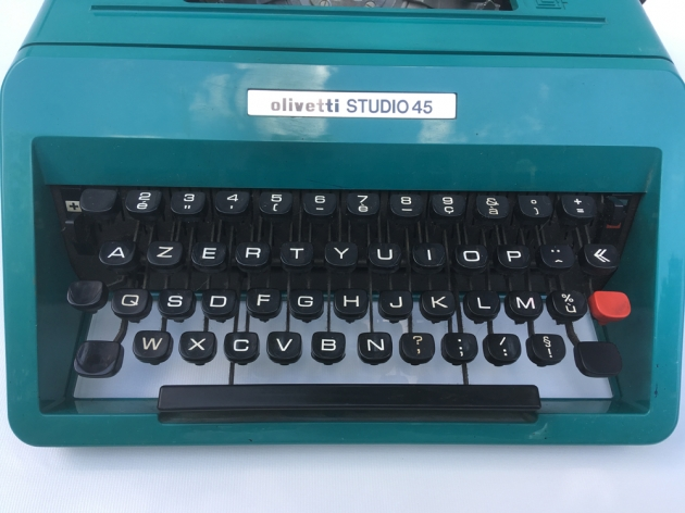 "Olivetti ""Studio 45"" from the keyboard..."