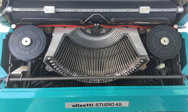 "Olivetti ""Studio 45"" from under the hood..."