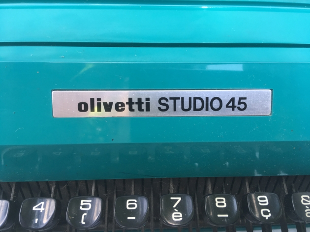 "Olivetti ""Studio 45"" from the front logo..."