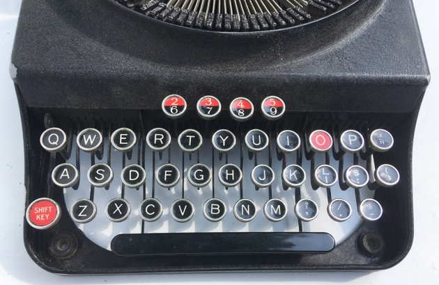 """Monarch (Remington) """"Pioneer"""" from the keyboard..."""