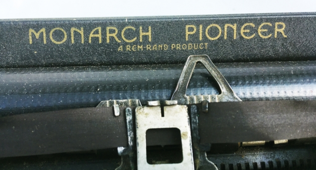 """Monarch (Remington) """"Pioneer"""" from the top (logo)..."""