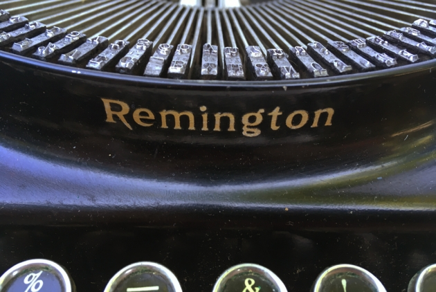 "Remington ""Junior"" from the front...(logo detail)"
