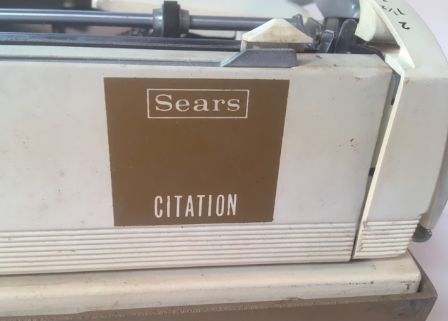 "Sears ""Citation"" from the back (detail)..."