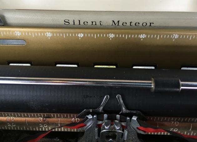 """Smith Corona, Golden Shield """"Silent Meteor""""  model logo, on the top..."""