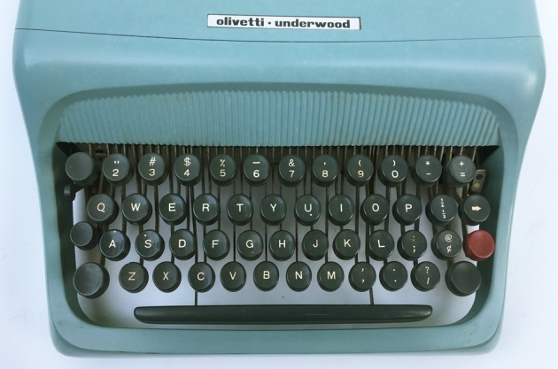 "Olivetti-Underwood ""Studio 44""  from the keyboard..."