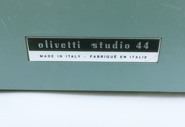 "Olivetti-Underwood ""Studio 44""  from the back (logo detail)..."