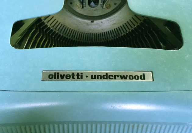 "Olivetti-Underwood ""Studio 44""  from the top (logo detail) ..."