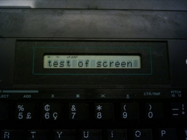 The LCD screen