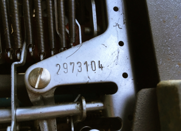 """Olympia """"SM9"""" serial number location..."""